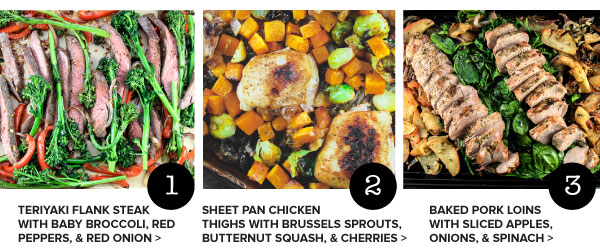 One Pan Dinners