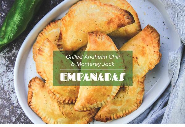 Grilled Anaheim Chiles and Monterey Jack Empanadas