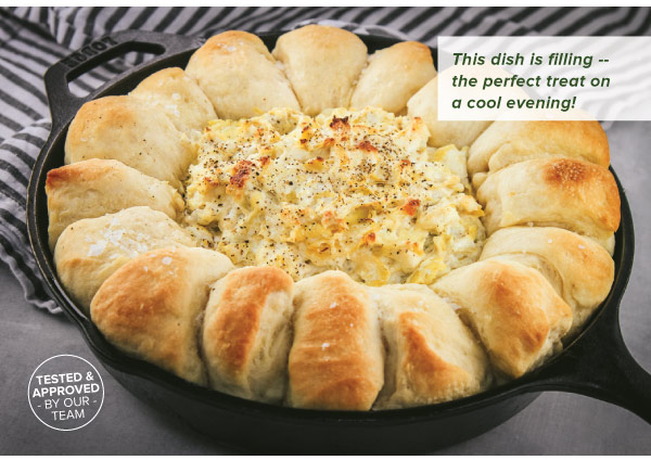 Hot Artichoke Dip with Roll Ring