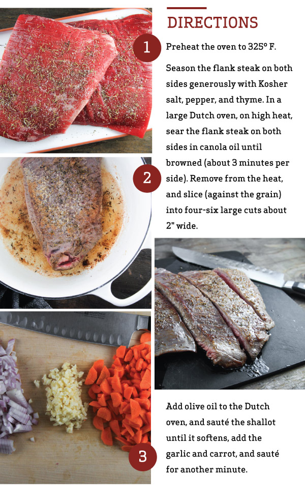 Flank Steak Ragu with Pappardelle