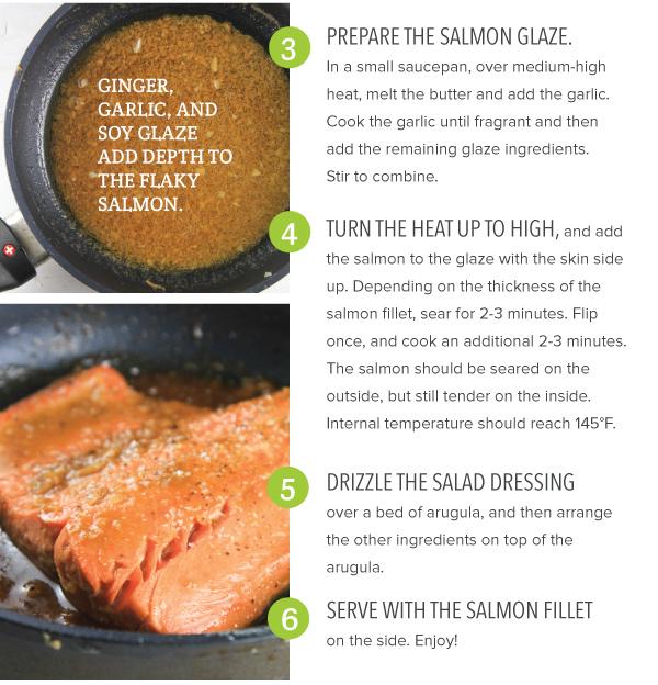 Pan Seared Salmon with Salad