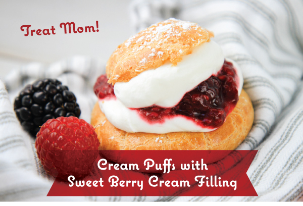 Cream Puffs with Berry Filling