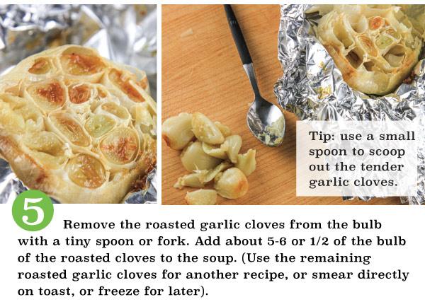 Roasted Garlic, Leek, & Potato Soup