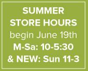 Summer Hours Soon